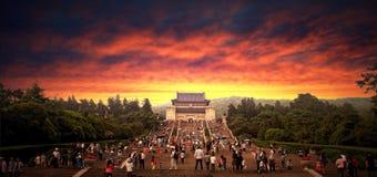 Dr. Sun Yat-sens Mausoleum de la Chine Nanjing Image stock