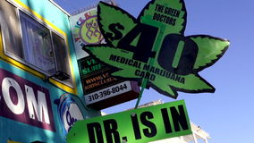 Dr. is in at  Venice beach LOS ANGELES stock footage