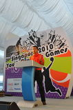 Dr Vivian Balakrishnan giving a speech. Dr Vivian Balakrishnan, Minister for Community Development, Youth and Sports, giving a speech during Singapore 2010 Youth Stock Photos