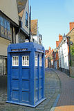Dr who tardis in kent country lane Stock Image