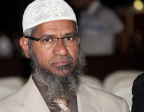 Dr Zakir Abdul Karim Naik Arkivbilder
