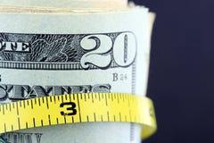 Dra åt budgeten/inflation Royaltyfria Foton