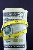 Dra åt budgeten/inflation Arkivfoton