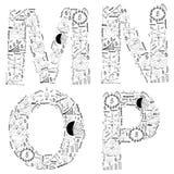 Dra affärsstrategi planerar begreppsidé av alfabetet märker Arkivfoton