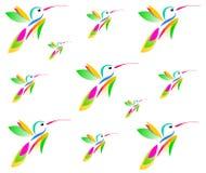 Dra av en kolibri i flykten vektor illustrationer