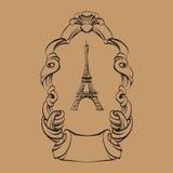 Dra beståndsdelar för barock för handtappningram stock illustrationer
