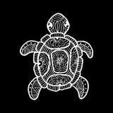Dra den dekorativa sköldpaddan vektor illustrationer