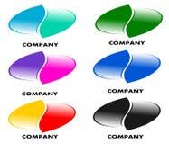 Dra företagslogo i olika färger stock illustrationer