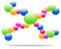 Dra företagslogomolekylen stock illustrationer
