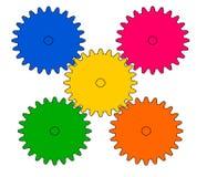 Dra hjulkugghjulet royaltyfri illustrationer