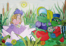 Dra lite flickan från en saga Thumbelina Royaltyfria Foton