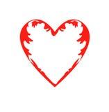 Dra modellen av hjärtor, symbol av förälskelse, dag för valentin` s Fotografering för Bildbyråer