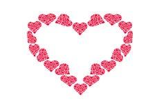 Dra modellen av hjärtor, symbol av förälskelse, dag för valentin` s Arkivfoton