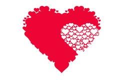 Dra modellen av hjärtor, symbol av förälskelse, dag för valentin` s Arkivbilder