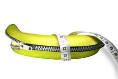dra ned blixtlåset på för banan royaltyfri bild