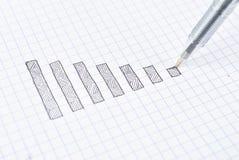 Dra ner graf Fotografering för Bildbyråer