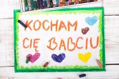 Dra: Polskt kort för dag för farmor` s arkivbilder