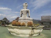 Dra tillbaka av buddaen, Wat Taton, Chiangmai, Thailand Royaltyfri Bild