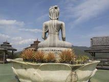 Dra tillbaka av buddaen, Wat Taton, Chiangmai, Thailand Royaltyfria Bilder