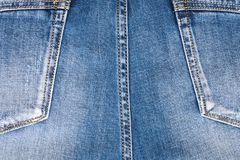 Dra tillbaka av jeansen, med fack Arkivbild