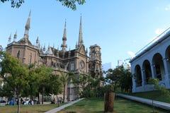 Dra tillbaka av kyrkan av capuchinsna - Cordoba, Argentina Royaltyfri Foto