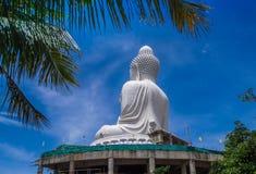 Dra tillbaka av stor Buddha av Phuket Arkivfoto