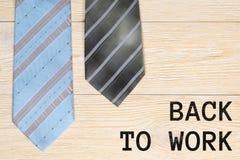 Dra tillbaka för att arbeta och slipsar Royaltyfri Foto