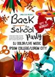 Dra tillbaka till affischen för inbjudan för skolavektorpartiet