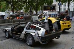 Dra tillbaka till den framtida bilen Royaltyfria Bilder