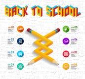 Dra tillbaka till den infographic designen för skolan vektor illustrationer