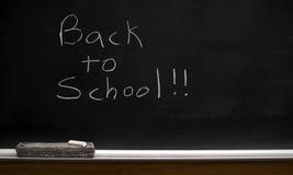 Dra tillbaka till den svart tavlan för skolan Royaltyfria Foton