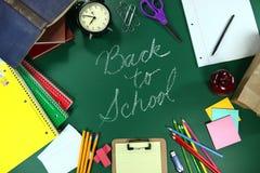 Dra tillbaka till den Themed bakgrundsbilden för skolan arkivbild