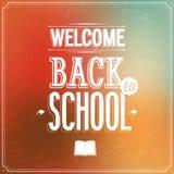 Dra tillbaka till den typografiska designen för skolan. Royaltyfri Fotografi