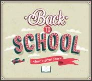 Dra tillbaka till den typografiska designen för skolan stock illustrationer