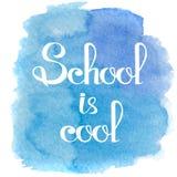 Dra tillbaka till designen för mallen för skolatemabanret Enkelt meddelandekort Royaltyfri Bild