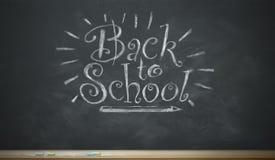 Dra tillbaka till nyckfull kritabokstäver för skolan Royaltyfri Fotografi