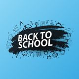 Dra tillbaka till skolabakgrund med hand-attraktion klotter Utbildningsbaner också vektor för coreldrawillustration stock illustrationer
