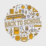 Dra tillbaka till skolabakgrundsillustrationen Royaltyfria Foton