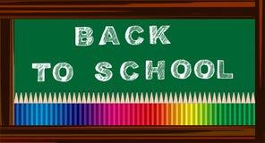 Dra tillbaka till skolabanret Royaltyfri Fotografi