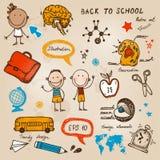 Dra tillbaka till skolaillustrationen Royaltyfri Illustrationer