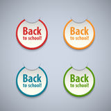 Dra tillbaka till skolaklistermärkear uppsättningen. Fotografering för Bildbyråer