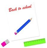 Dra tillbaka till skolakortdesignen Arkivbild