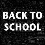 Dra tillbaka till skolan över skolaklotterbakgrund Fotografering för Bildbyråer