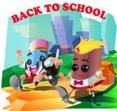 Dra tillbaka till skolan Royaltyfria Foton