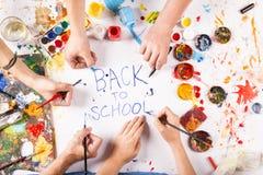 Dra tillbaka till skolan Royaltyfri Fotografi