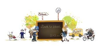 Dra tillbaka till skolan royaltyfri illustrationer