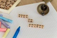 Dra tillbaka till skolan/begreppet Royaltyfri Fotografi