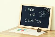 Dra tillbaka till skolan/begreppet Arkivbild