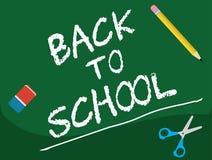 Dra tillbaka till skolan - Blakboard Arkivfoto
