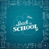 Dra tillbaka till skolan hand-drog klotter bakgrund vektor illustrationer